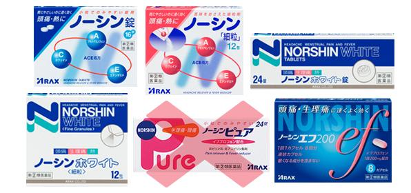 ノーシンシリーズの商品イメージ
